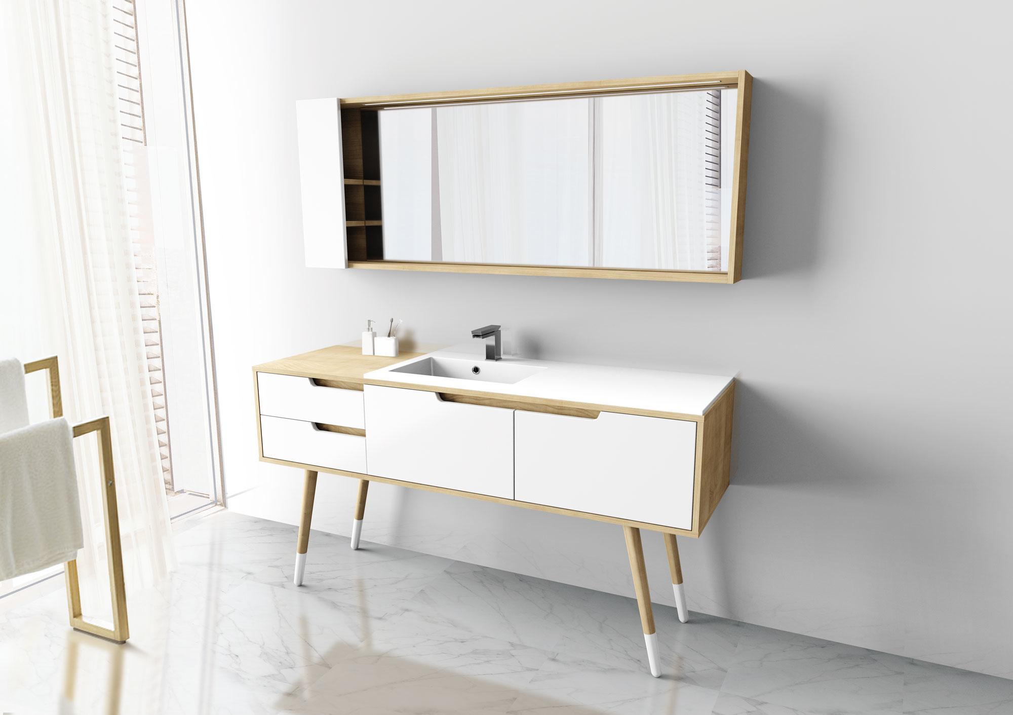 Meuble de salle de bain nordique